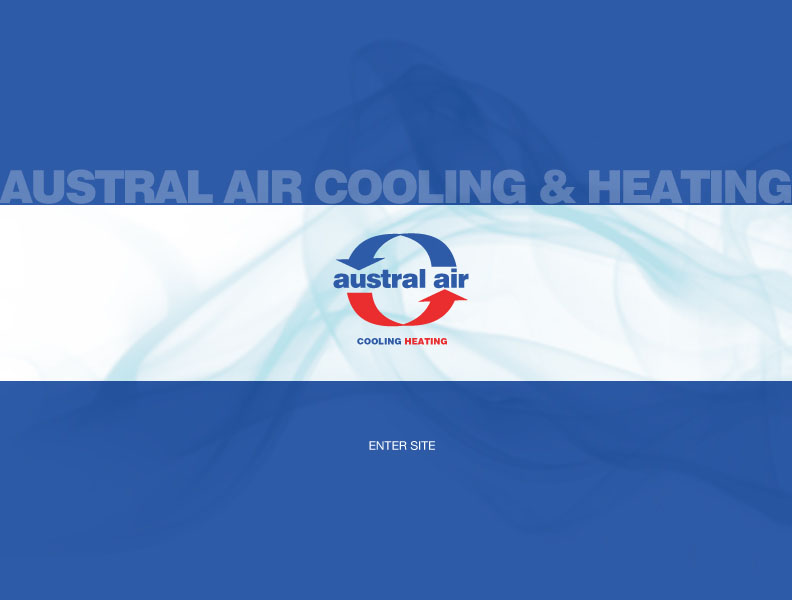 Austral Air Cooling and Heating Splash Page